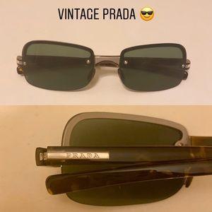 Vintage Prada Tortoise Sunglasses 2000s Black